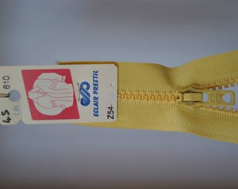 zip up 75cm separable Z54 yellow straw 610 molded plastic mesh