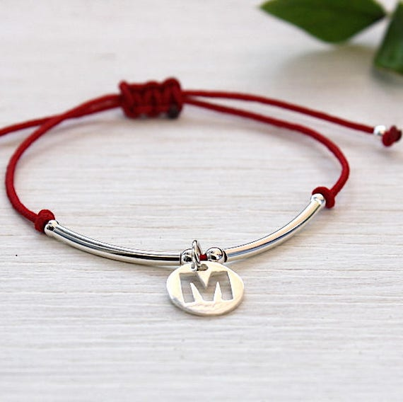 personalized Medal and rushes in 925 sterling silver cord bracelet