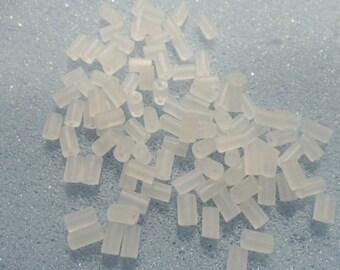 100 rubber earring stoppers - earring backs - tube stoppers - 4mm - rubber earring tube