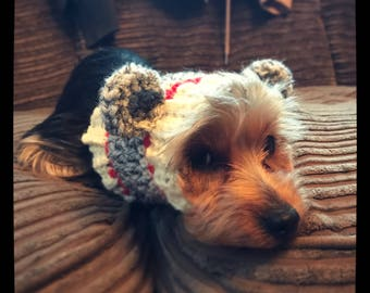 The Sock Monkey Dog snood, scarf, ear warmer. Uk seller. Choose your size and from 16 colours.