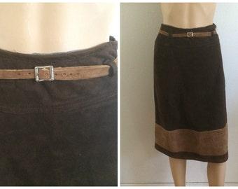 Equestrian Skirt / Equestrian Suede Skirt / Tan Brown Skirt / Circle Suede Skirt / Brown Skirt