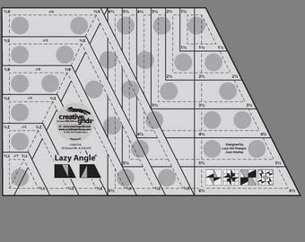 Creative Grids Lazy Angle Quilt Ruler (CGR3754)