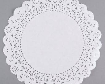 """12"""" 50PCS White Paper Lace Grease Proof Doilies, Paper Doilies, Doily, Lace Doily, Lace Doilies, Grease Proof Doilies, White Lace Doily"""