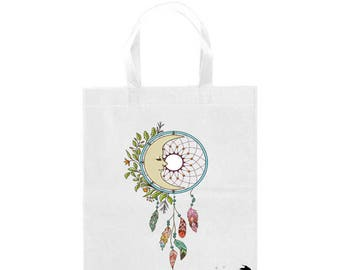 Fashion tote bag, shopping bag , French, dream Catcher