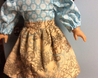 American girl doll pretty corduroy skirt, and blouse