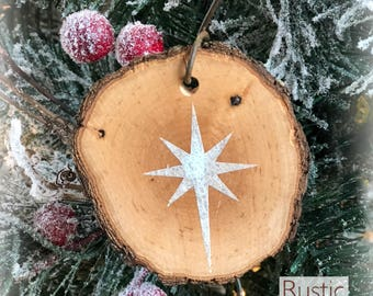 Christmas Star Rustic Ornament | Reclaimed Wood Christmas Ornament | Hostess Gift