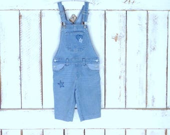 Vintage kids/childrens/baby 6/6x blue jean denim bib overalls/boy/girl denim jean coveralls/Jordache