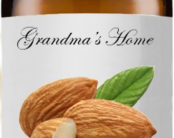 Sweet Almond Oil - 15mL+ - Grandma's Home 100% Pure and Natural Theraputic Aromatherapy Grade Carrier Oils