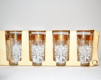 Vintage  Juice Glasses Anchorglass 1950's