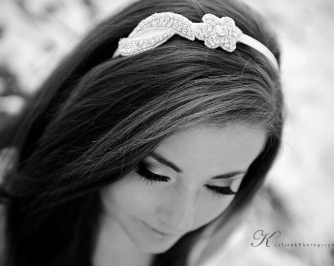 Bridesmaid Headbands, Rhinestone Bridal headpiece, floral rhinestone headband, bridesmaids hair pieces, bridesmaid headpieces, wedding hair