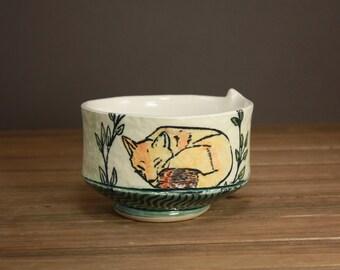 Sleepy Fox Bowl| Woodland Creature| Fox Bowl| Gift for Animal Lover