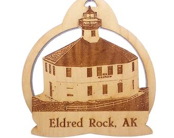 Eldred Rock Lighthouse Ornament - Alaska Lighthouse - Lynn Canal Alaska - Lighthouse Christmas Ornament