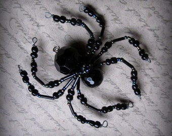 Black Spider  Suncatcher Ornament