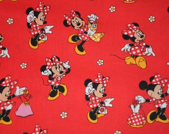 Disney Minnie Mouse Loves Dresses 100% Cotton Quilt Fabric by Springs Creative