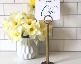 Gold Table Number Holders - Gold Menu Holders - Gold Table Number Stands - Gold Wedding Stands - Gold Wedding