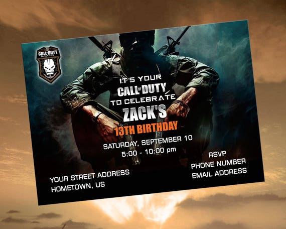 Black ops printable digital personalized birthday party like this item filmwisefo Image collections