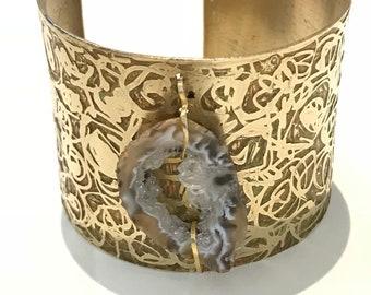 Geode Etched cuff Bracelet