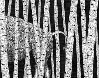Midnight Stroll - 8x10 Print