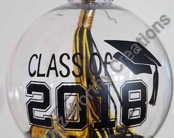 2018 Graduation Tassel Ornament Keepsake--Personalization of graduate's name can be added at no additional cost