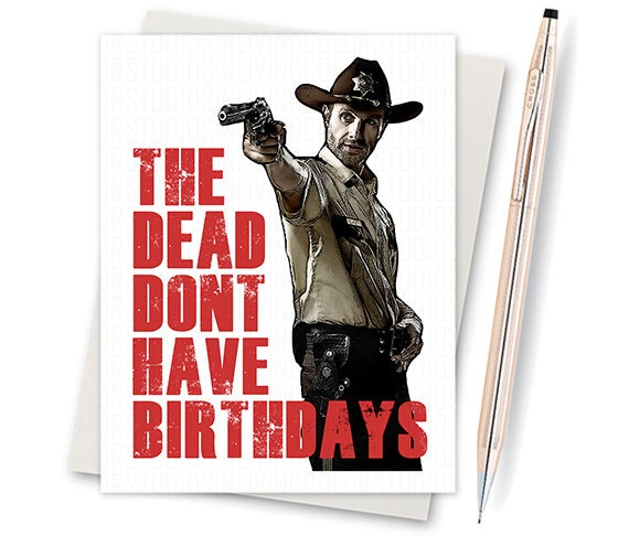 Items similar to birthday card the walking dead daryl dixon items similar to birthday card the walking dead daryl dixon card for birthday gift for mom gift for bride blank card birthday gift for him on m4hsunfo
