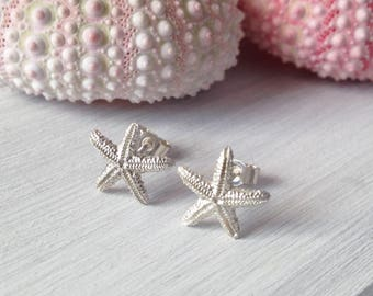 Starfish Studs - Nautical Wedding - Beach Earrings - bridesmaids gift - Gift for Her