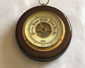 Vintage wooden Stellar barometer made in Germany