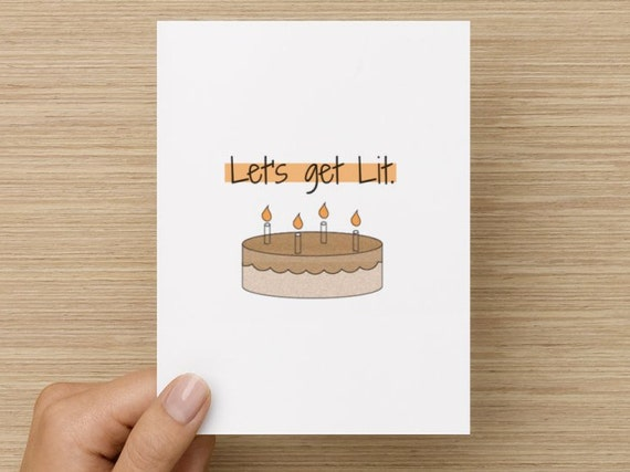 Greeting card lets get lit happy birthday card tumblr like this item bookmarktalkfo Gallery