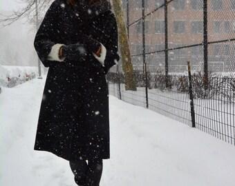 Vintage Black Lord + Taylor Coat