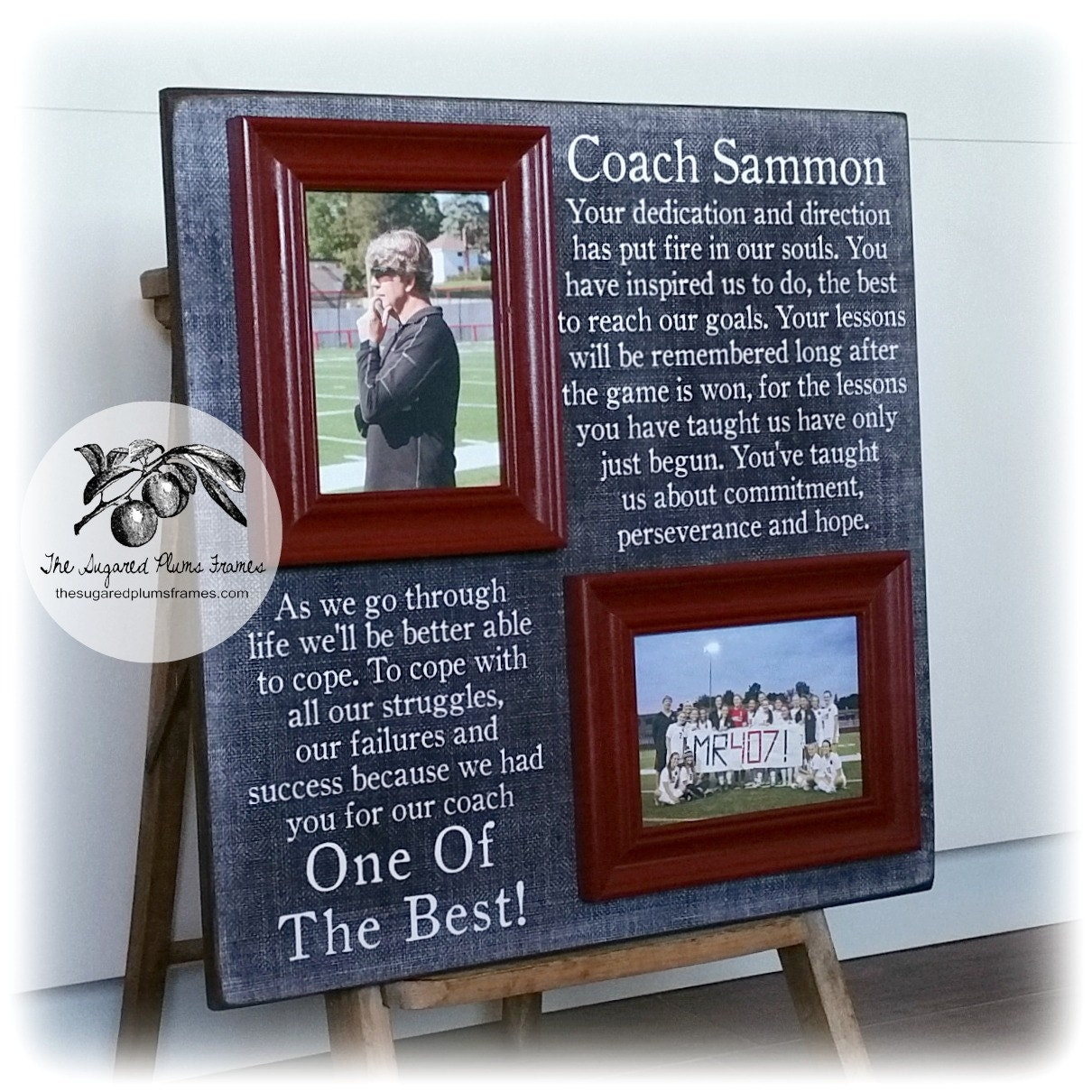 Coaches gift coach thank you frame soccer coach baseball zoom jeuxipadfo Gallery