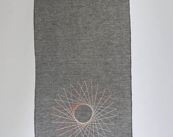 circle wallhanging - large - contemporary textile art - fiber art - textile artist - fiber artist - wall hanging