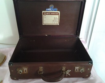 1940 Globite Lockable School Case with Key - Overnight bag - Vintage