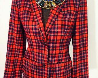 SALE Pendleton Blazer/Pendleton Coat/plaid blazer/tartan blazer/winter coat/pendleton plaid/vintage wool blazer/vintage blazer/plaid wool