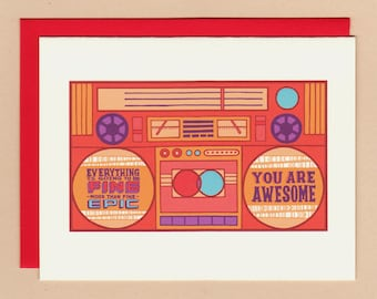 Motivational Speakers Boombox Card