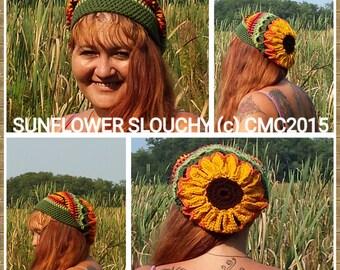Sunflower Slouch Crochet Pattern