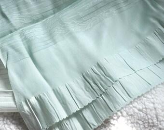 Silk obi belt/obi sash/silk obiage/green obi/kimono belt/vintage japanese kimono robe belt/kimono sash/green sash/silk belt/kimono fabric