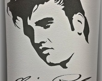 Elvis Canvas Art, The King, Elvis Presley, Elvis wall art,  The King of Rock and Roll, Elvis Silhouette, Young Elvis, Elvis  Collectable
