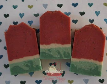Watermelon, Handmade soap, Artisan soap, Cold process soap, soap, soap bar, bath and body
