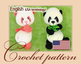 Panda - Amigurumi Crochet Pattern PDF file by Anna Sadovskaya