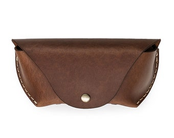 Glasses case by AtelierPall Sunglasses Leather case in distressed brown leather hand stitched