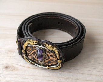 "Belt and bracelet ""Eye of the dragon"""