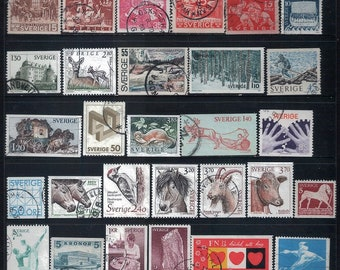 SWEDEN - Mixed Lot of 40 Old Stamps, Most Good to Fine Used