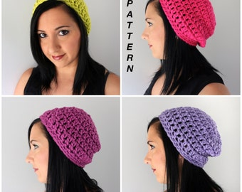 Crochet Beanie Hat PATTERN, Super Easy Adult Hat Pattern, Petra Crochet Beanie Pattern
