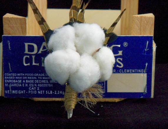 Cotton Blossom Boutonniere
