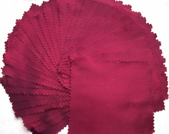 BURGUNDY WINE...58 pieces of 100% Silk...12 x 12 cm each average piece