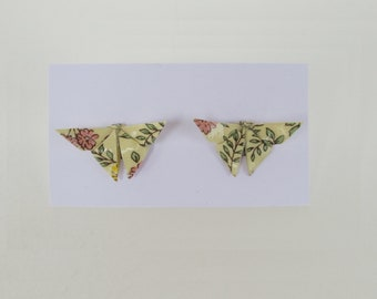 Italian paper origami Butterfly Stud Earrings