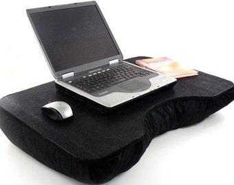 Jumbo Black Canvas Cotton Laptop Lap Desk