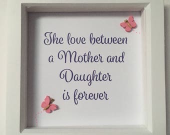 Pretty Mothers Day embellished box frame