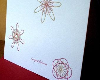 Congratulations Letterpress Card