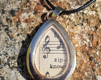 For the love of music necklace