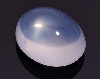54.7 Ct. Natural Blue Milky Opal Quartz Oval Cabochon Loose Gemstone 26X21X14 HB-640